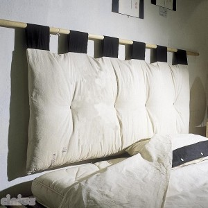 Futon Headboard, ecrù body with black loops