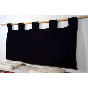 Futon Headboard, black body with black loops