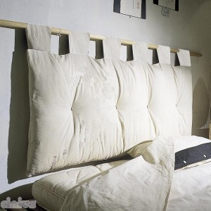 Futon Headboard, ecrù body with ecrù loops