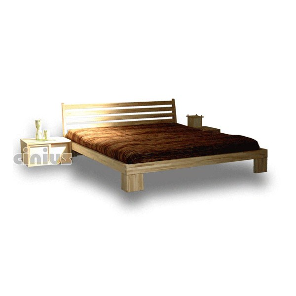 "Aurora Japanese bed with ""Aurora"" headboard - Shop Cinius"