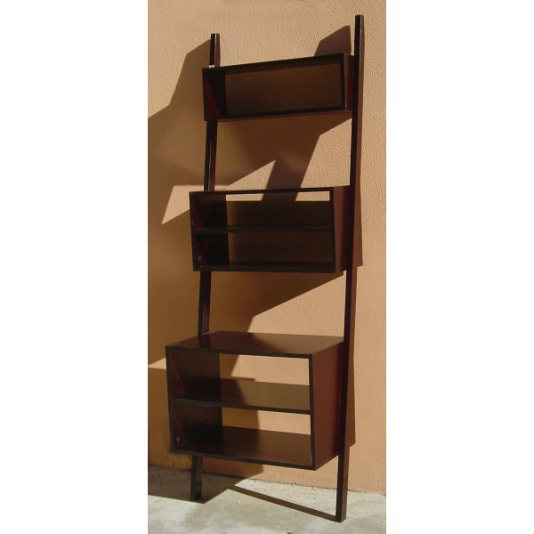 Angled Pyramid Shaped Bookcase With 5 Shelves Shop Cinius