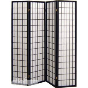 Tatami model screen, black colour