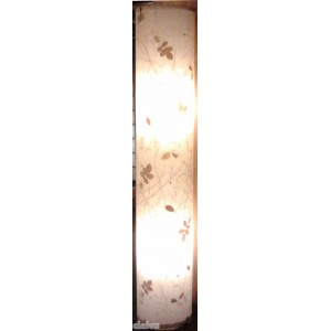 Lamp column with decorations