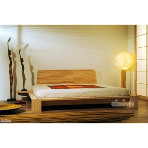 Kyoto Japanese Bed With Mattress Tables And Futon Headboard