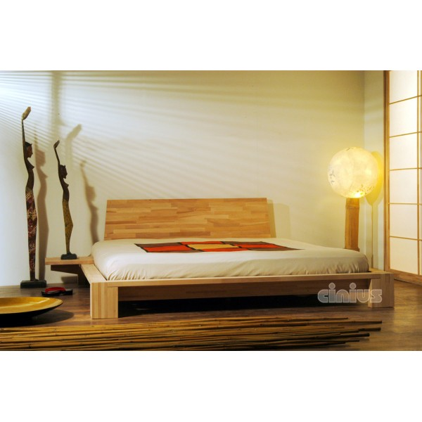 good lit japonais kyoto lit avec table de nuit incorporee with cadre de lit japonais. Black Bedroom Furniture Sets. Home Design Ideas