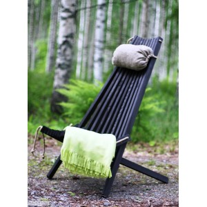 Black chair with headrest