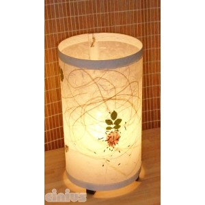 Table lamp column-shaped, made of rice paper