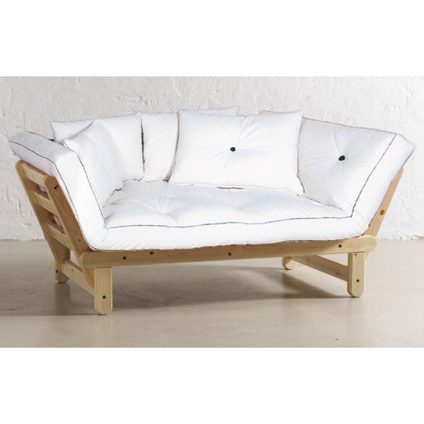 Sole eco model sofa bed 2 places untreated shop cinius for Divano 2 posti piccolo