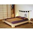 TOKYO Japanese bed with mattress and futon headboard