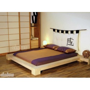 Isola Japanese bed with mattress, bed tables and futon headboard